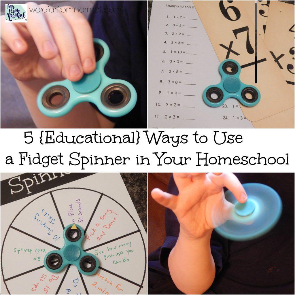 fidget spinner in your homeschool