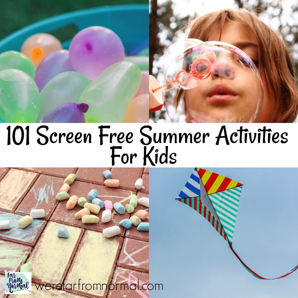 screen free summer activities for kids