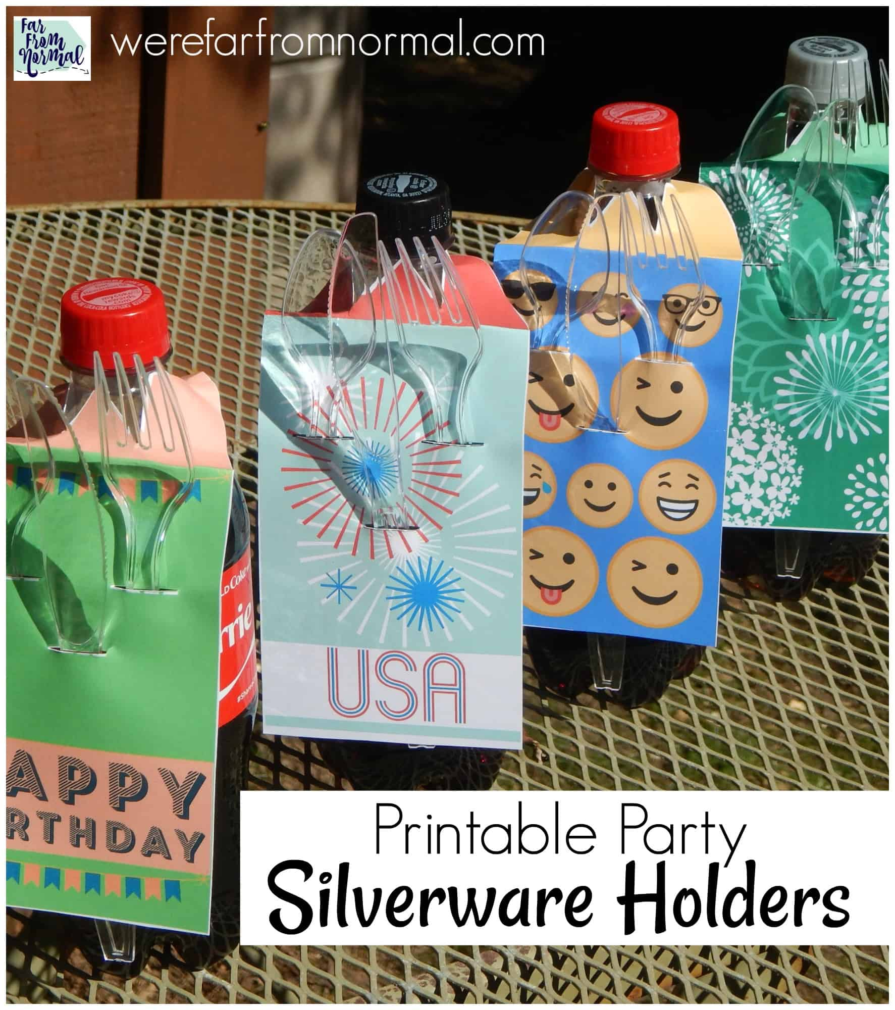 Printable Party Silverware Holders