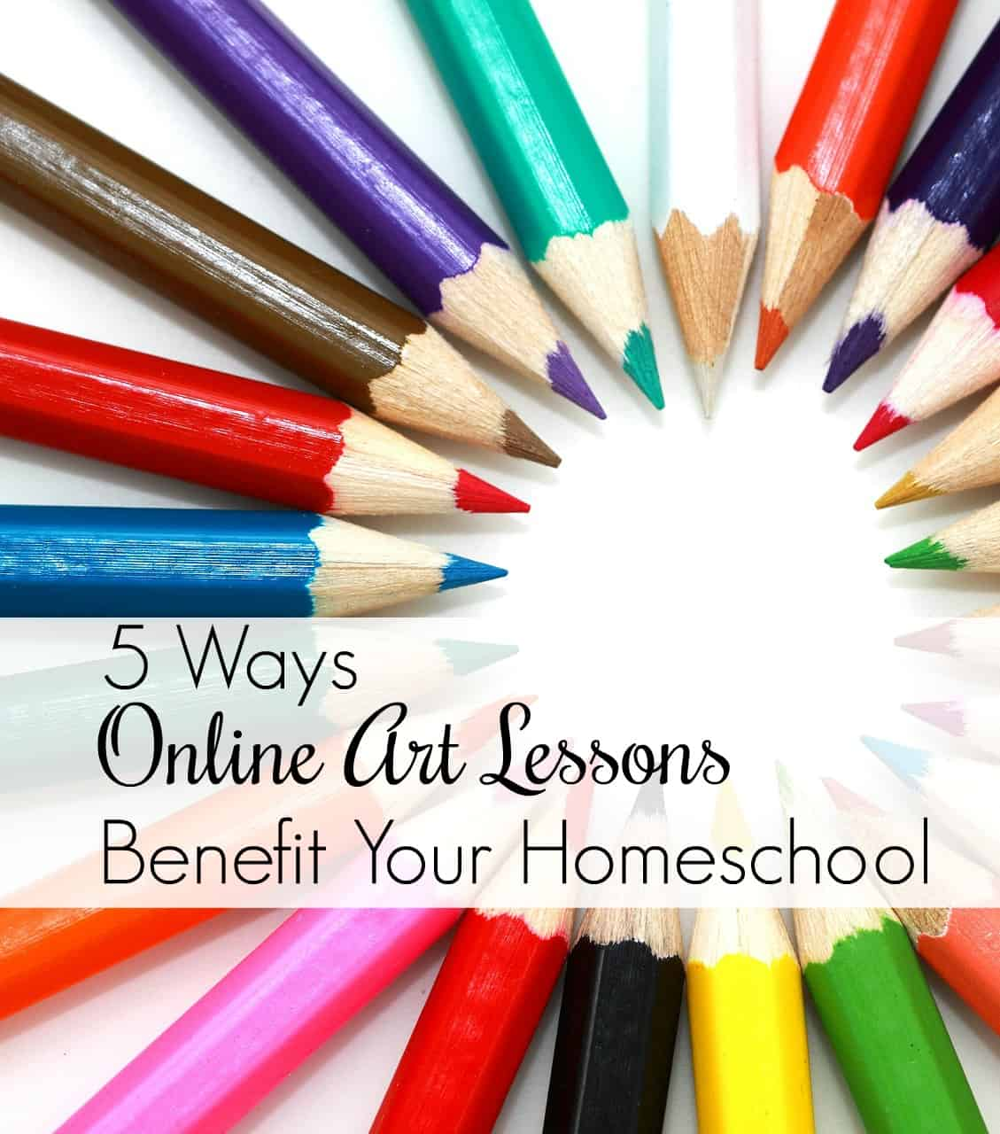 5 Ways Online Art Lessons Benefit Your Homeschool