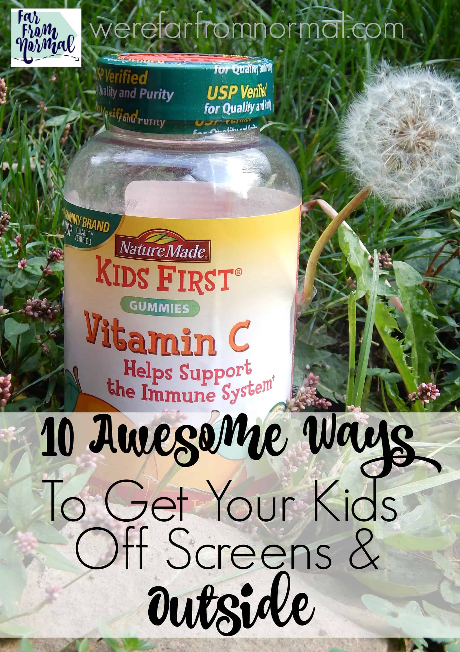 10 Awesome Ways to Get Your Kids Off Screens & Outside!