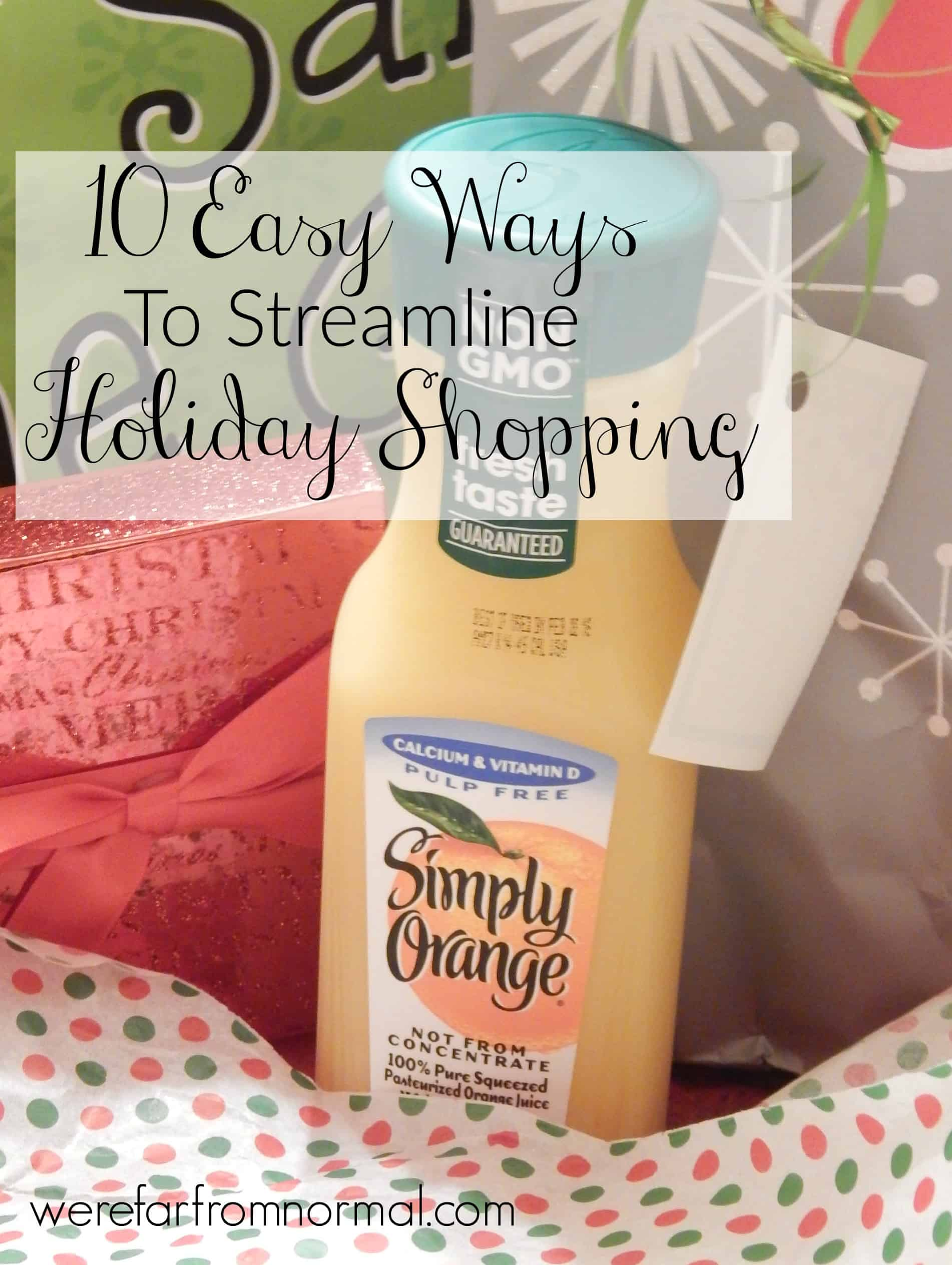 10 Easy Ways to Streamline Your Holiday Shopping