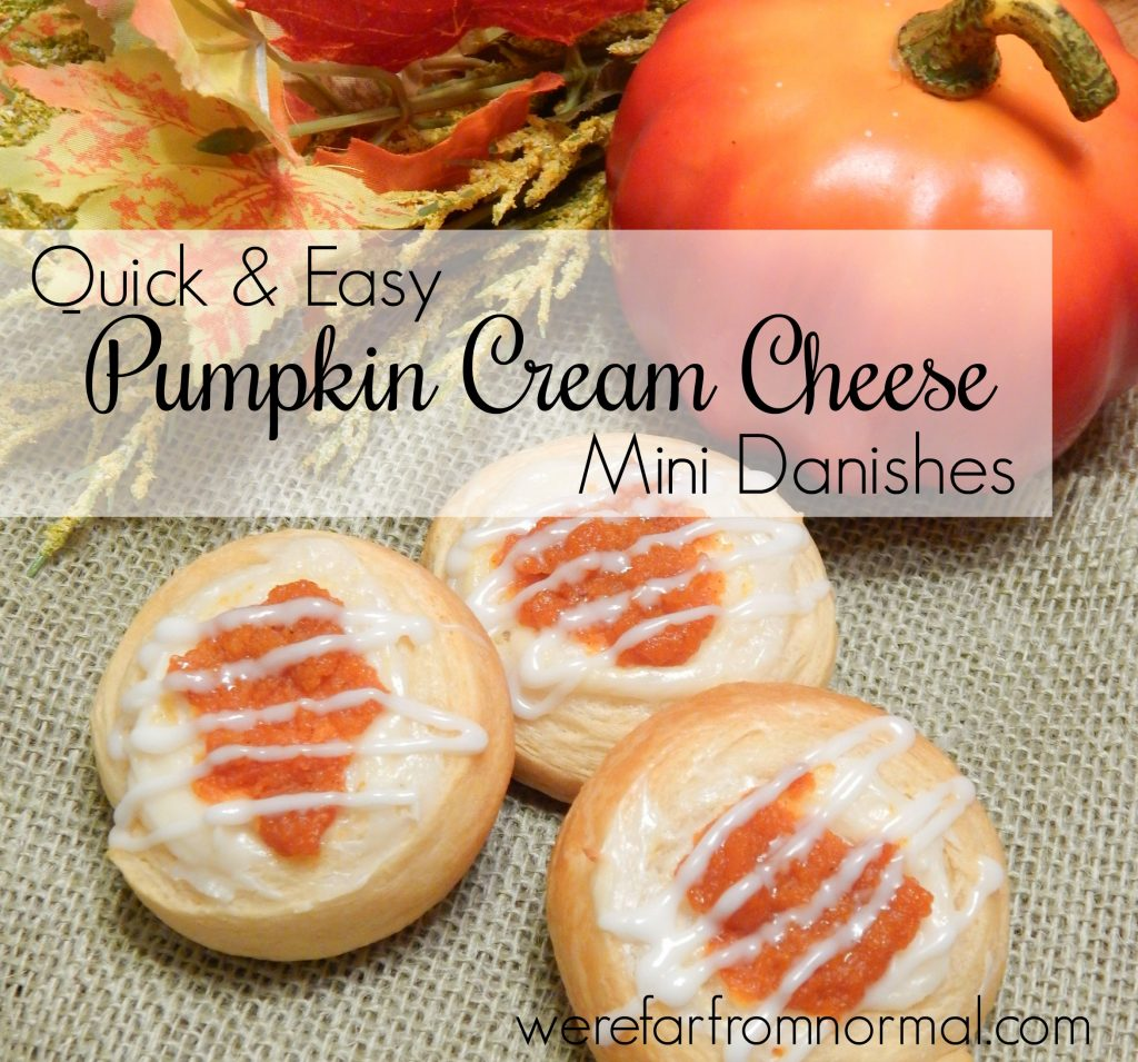 pumpkin cream cheese danishes
