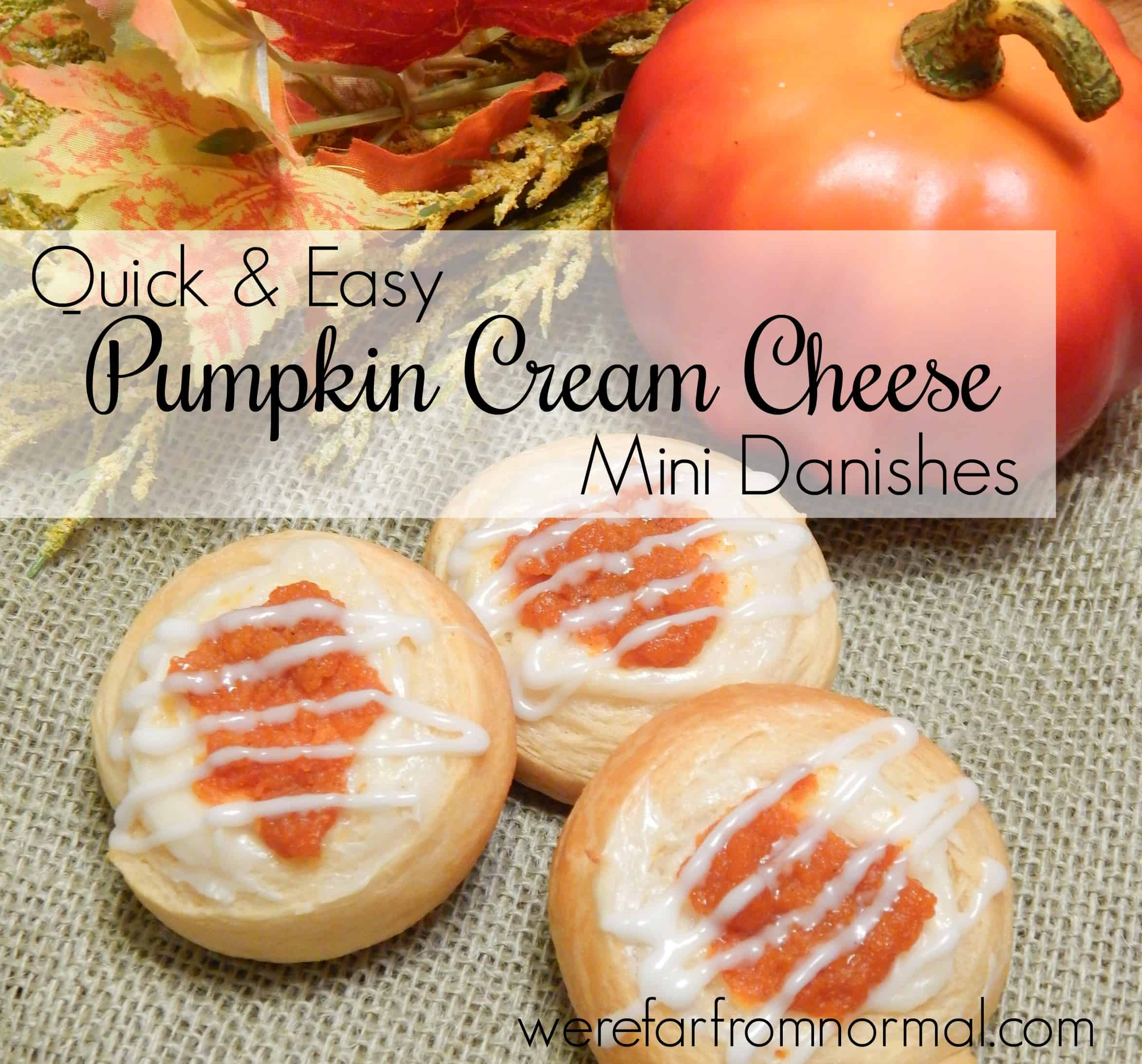 Quick & Easy Mini Pumpkin Cream Cheese Danishes