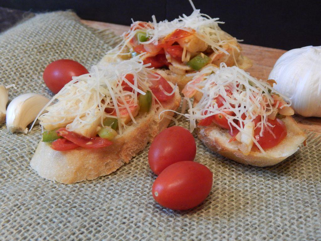 crab bruschetta