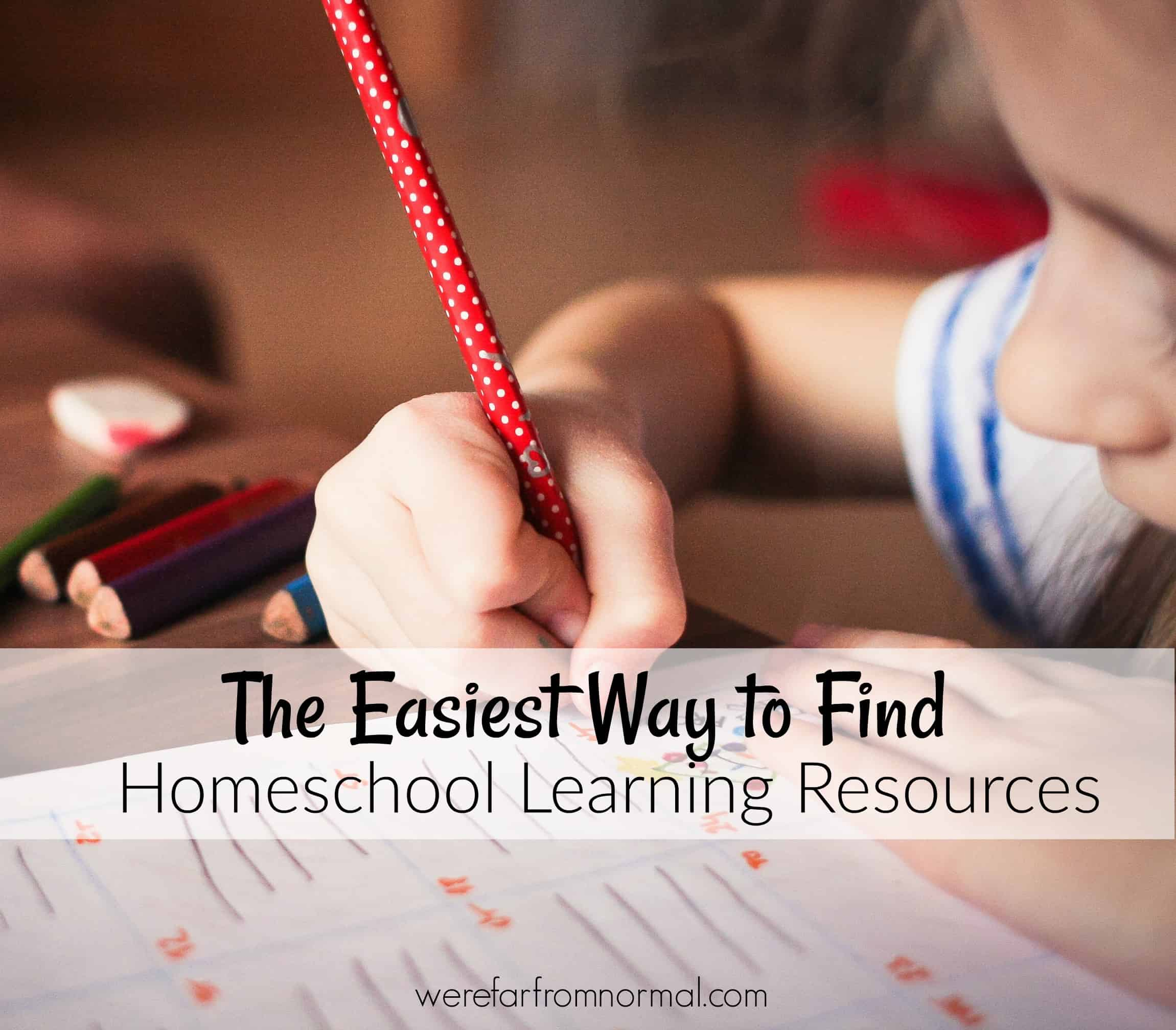 The Easiest Way to Find Homeschool Learning Resources