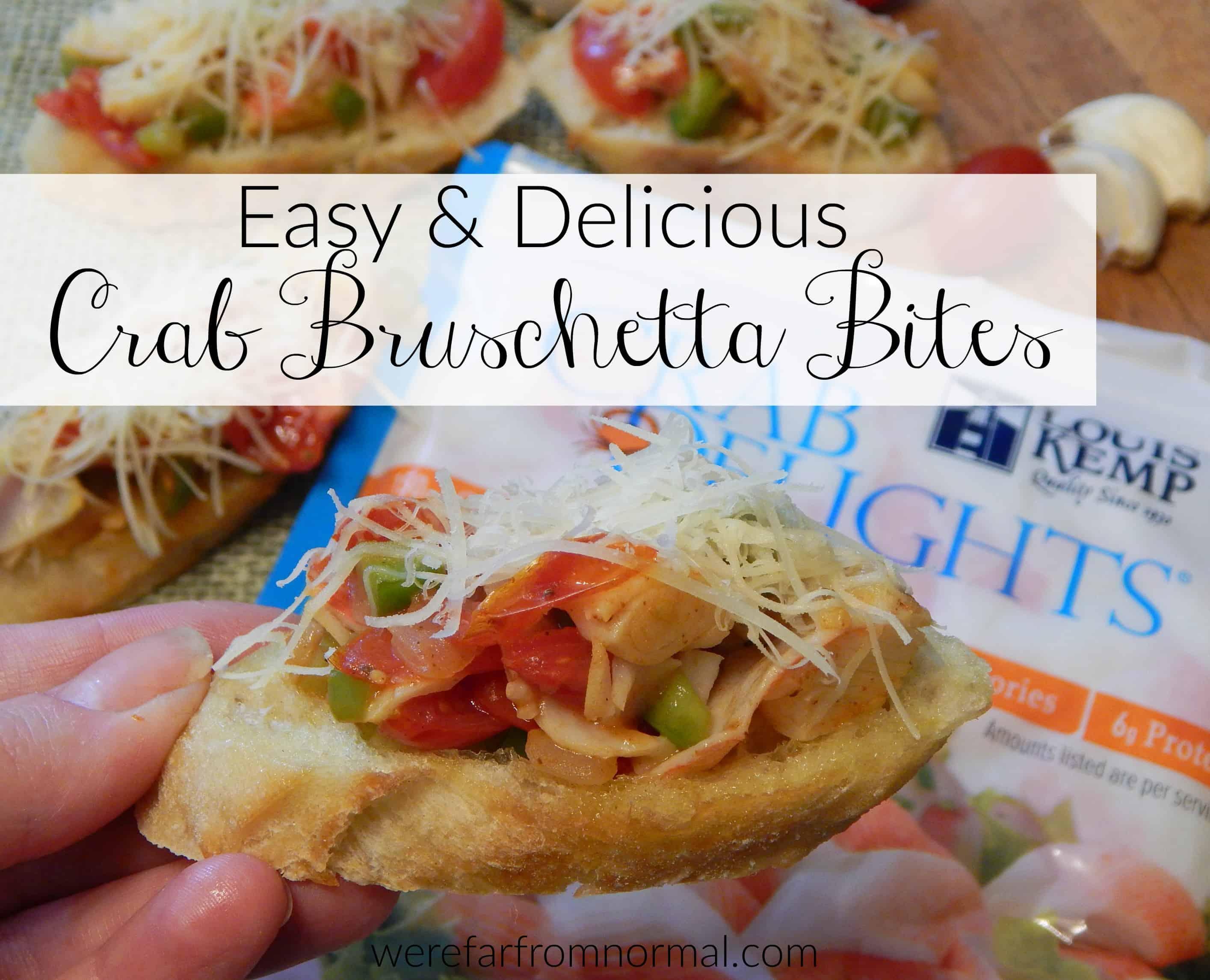 Crab Bruschetta Bites – Easy & Delicious!