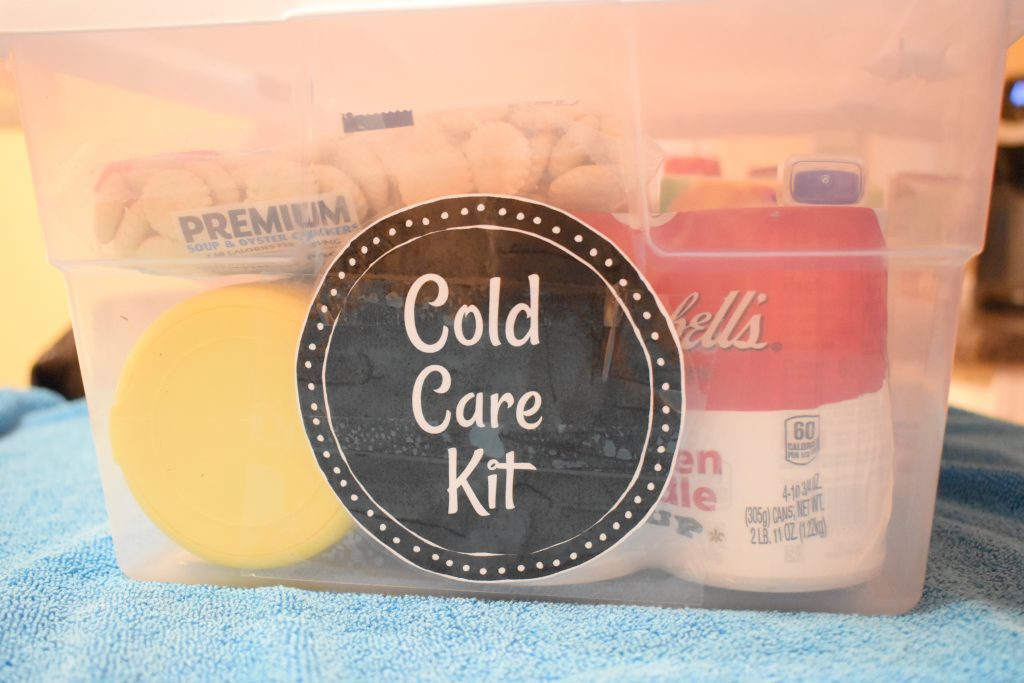 how to make a cold care kit