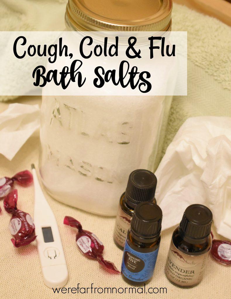 cough cold & flu bath salts