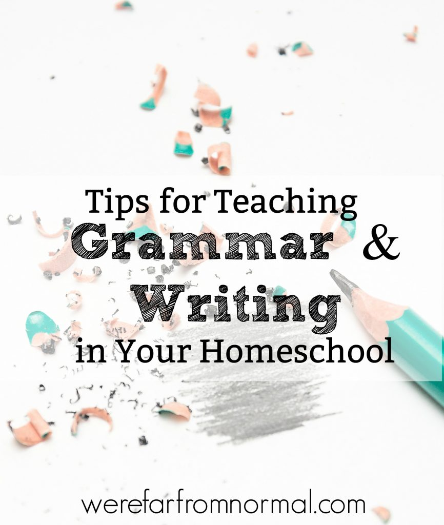 homeschool grammar and writing lessons