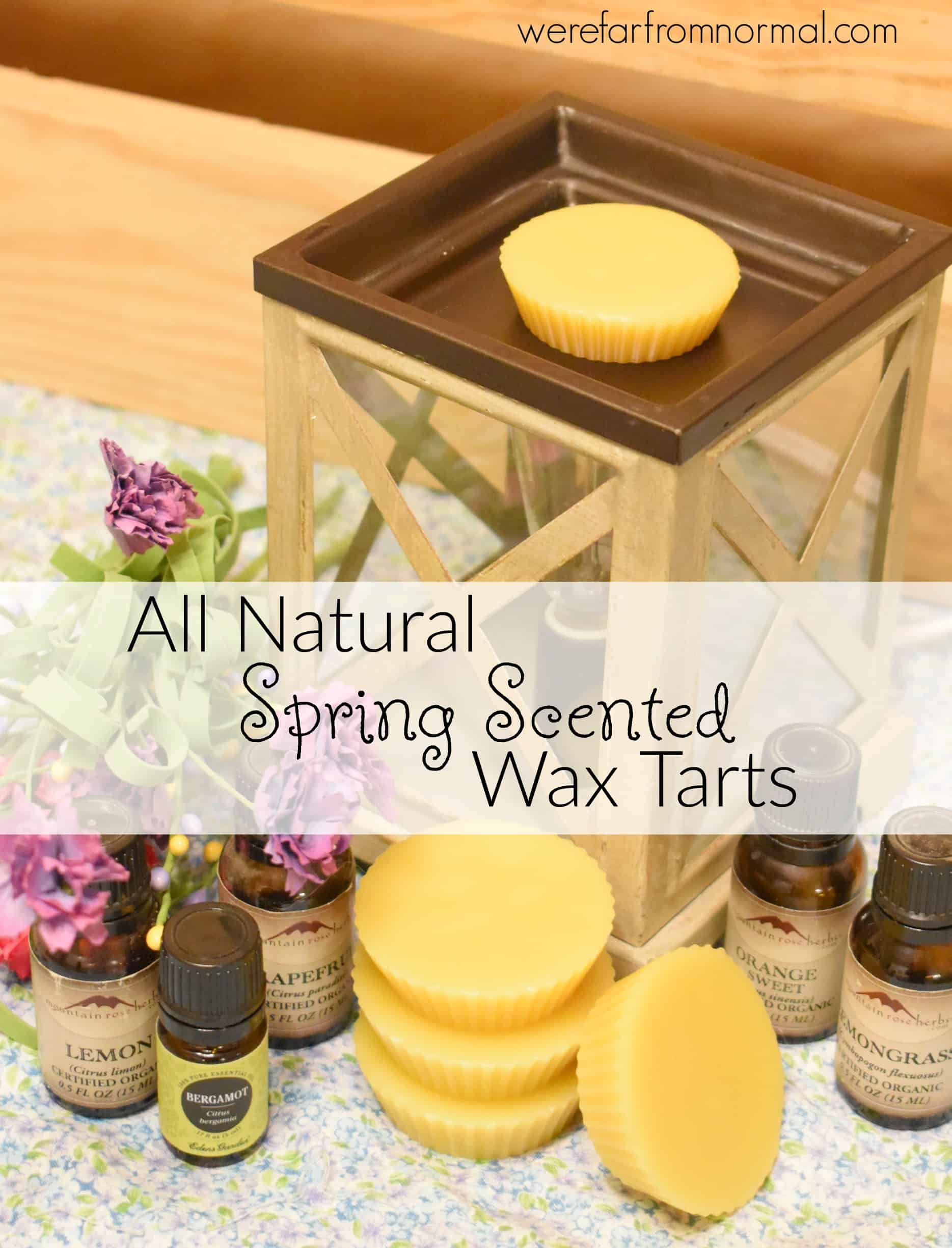 DIY All Natural Spring Scented Wax Tarts