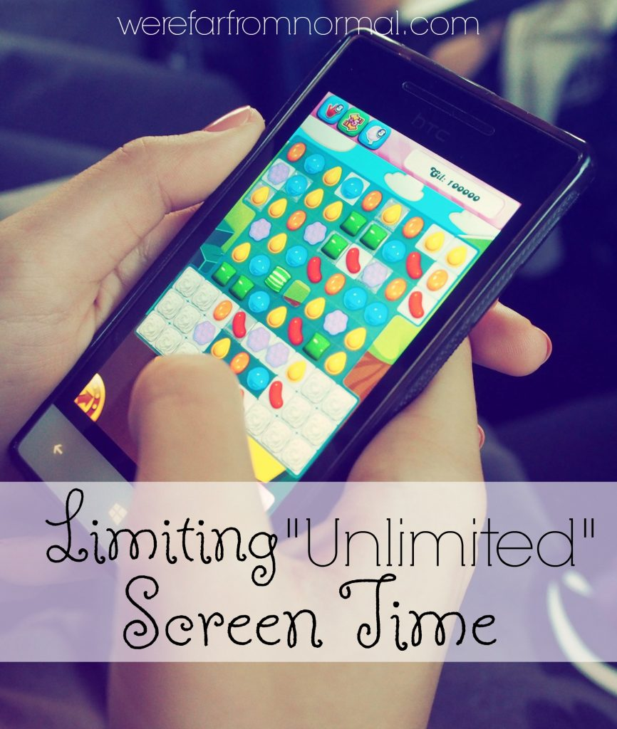 Setting limits on unlimited screen time
