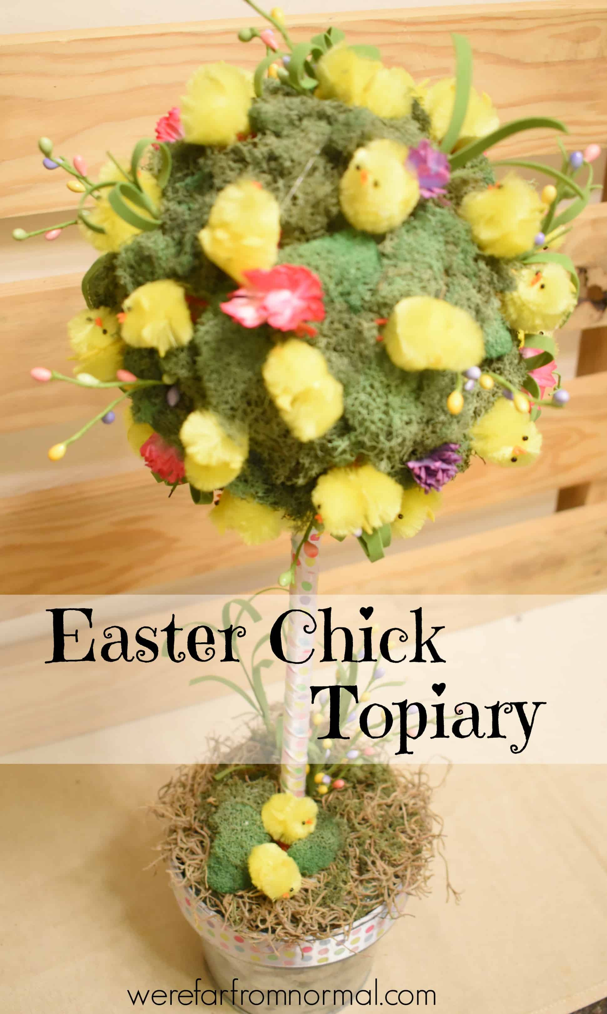 DIY Super Cute Easter Chick Topiary