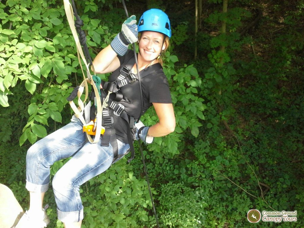 Lake Erie Family Vacation ziplining
