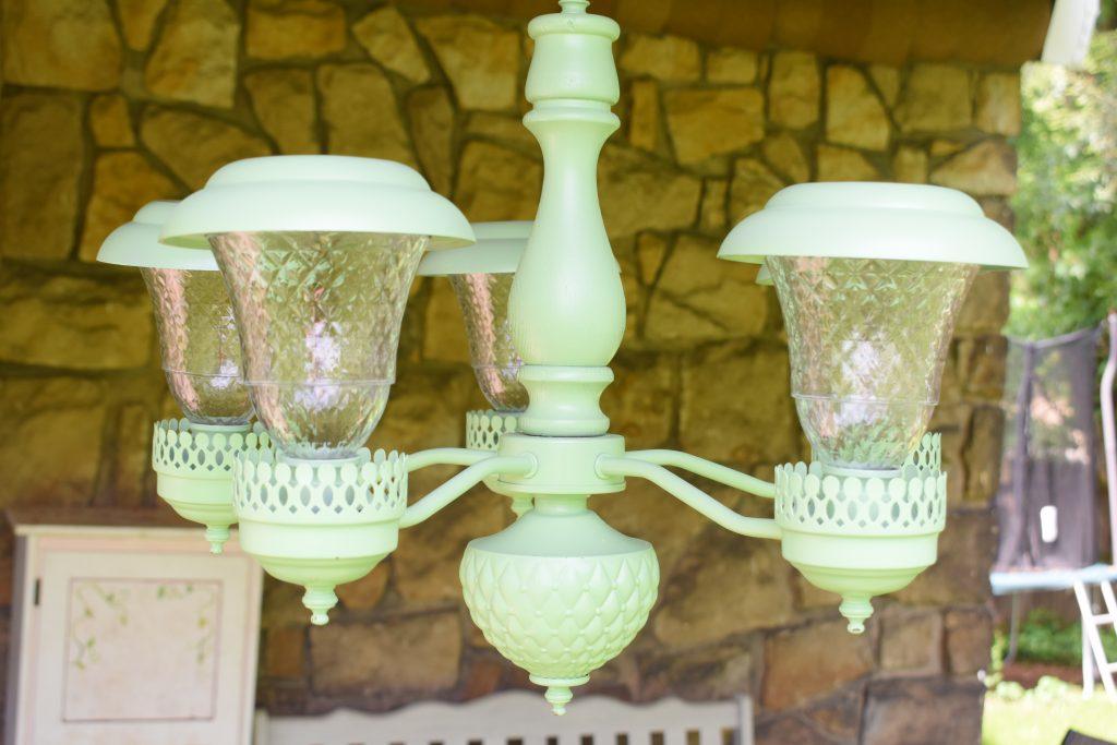 outdoor solar chandelier