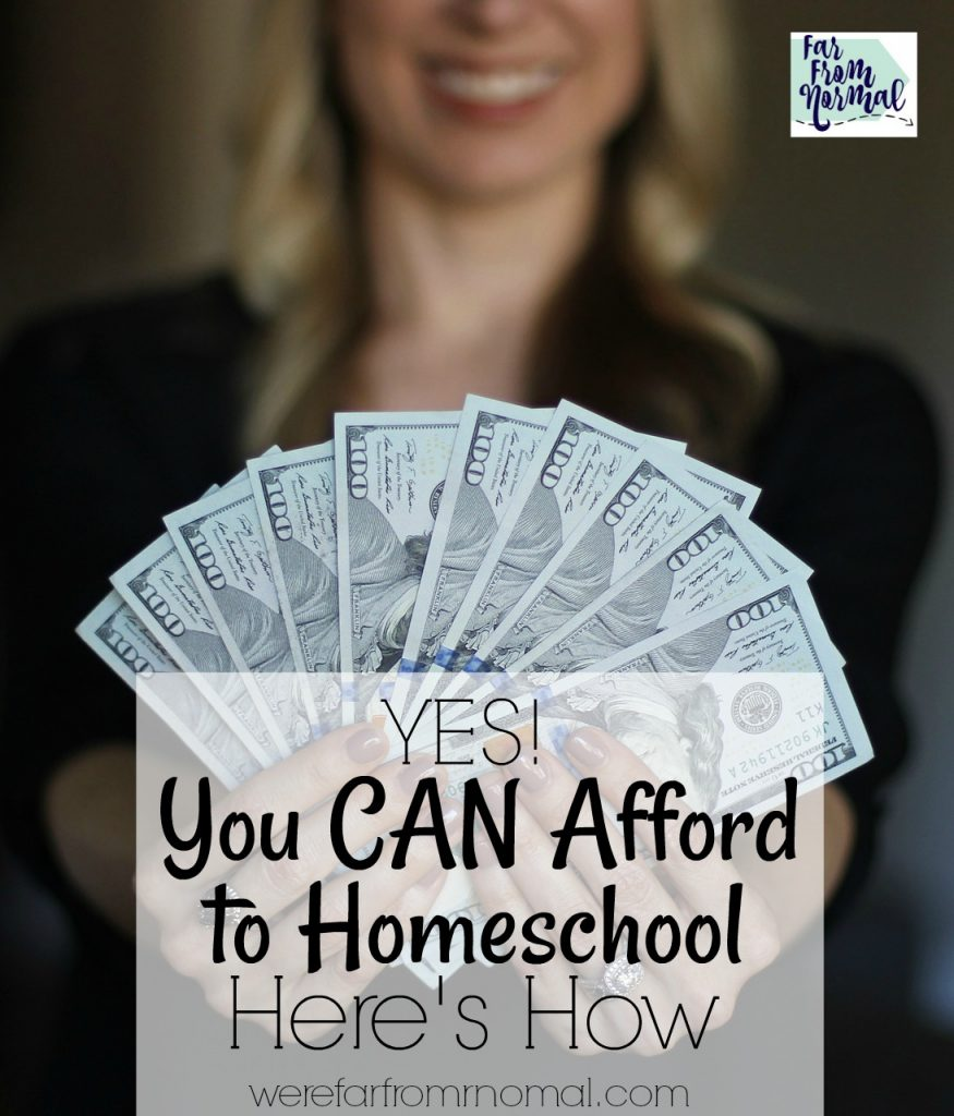 you can afford to homeschool