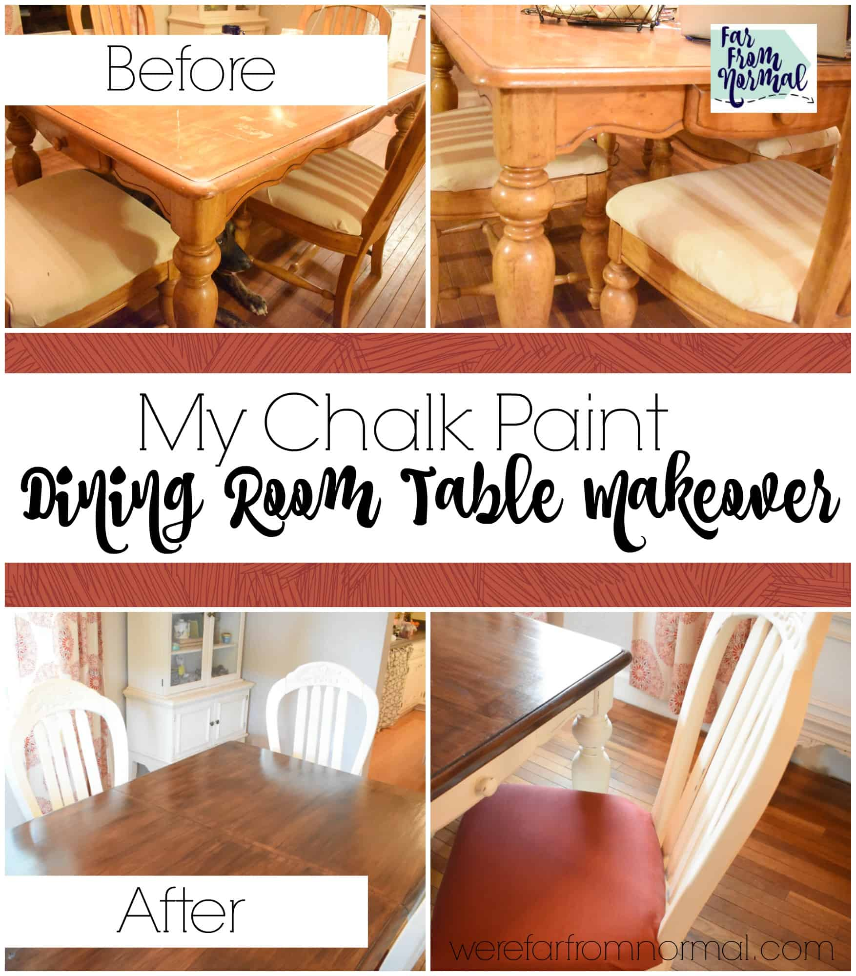My Chalk Paint Dining Room Table Makeover