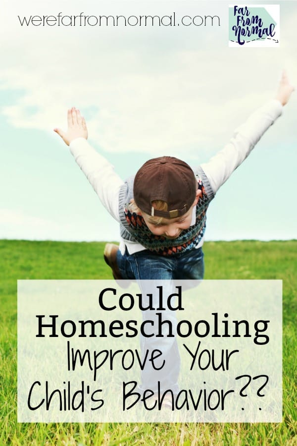 Could Homeschooling Improve Your Child's Behavior??