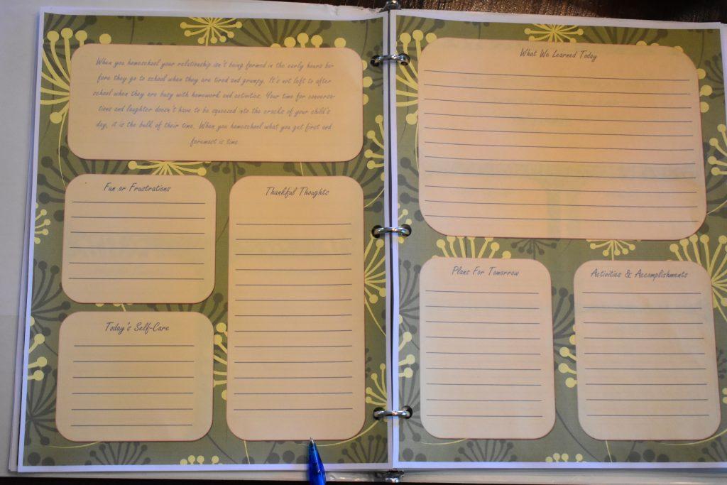 gratitude journal for homeschool moms