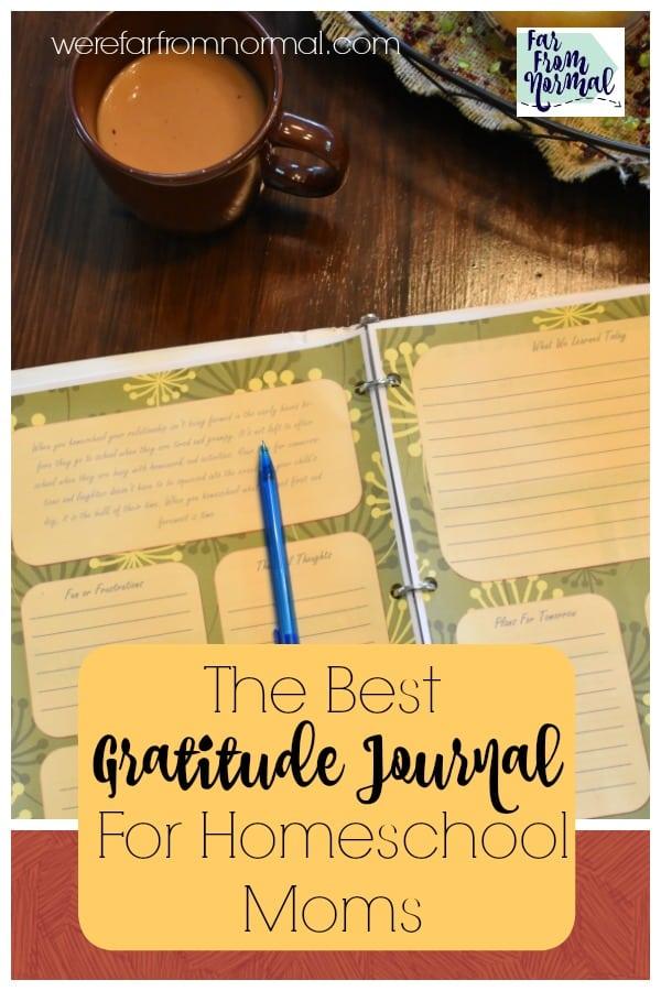 The Best Encouragement & Gratitude Journal For Homeschool Moms