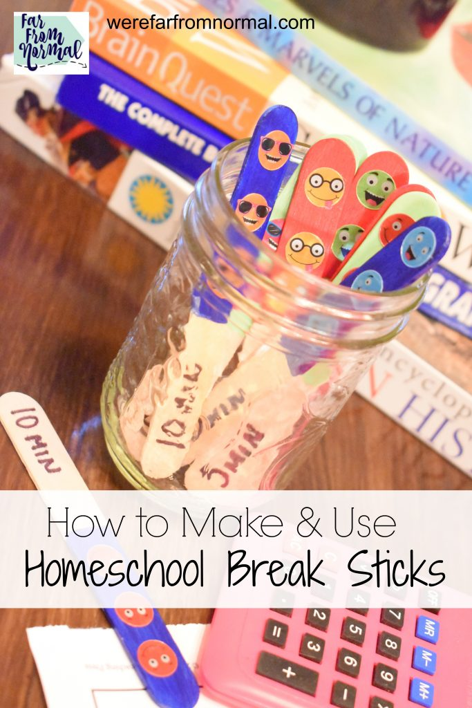 homeschool break sticks