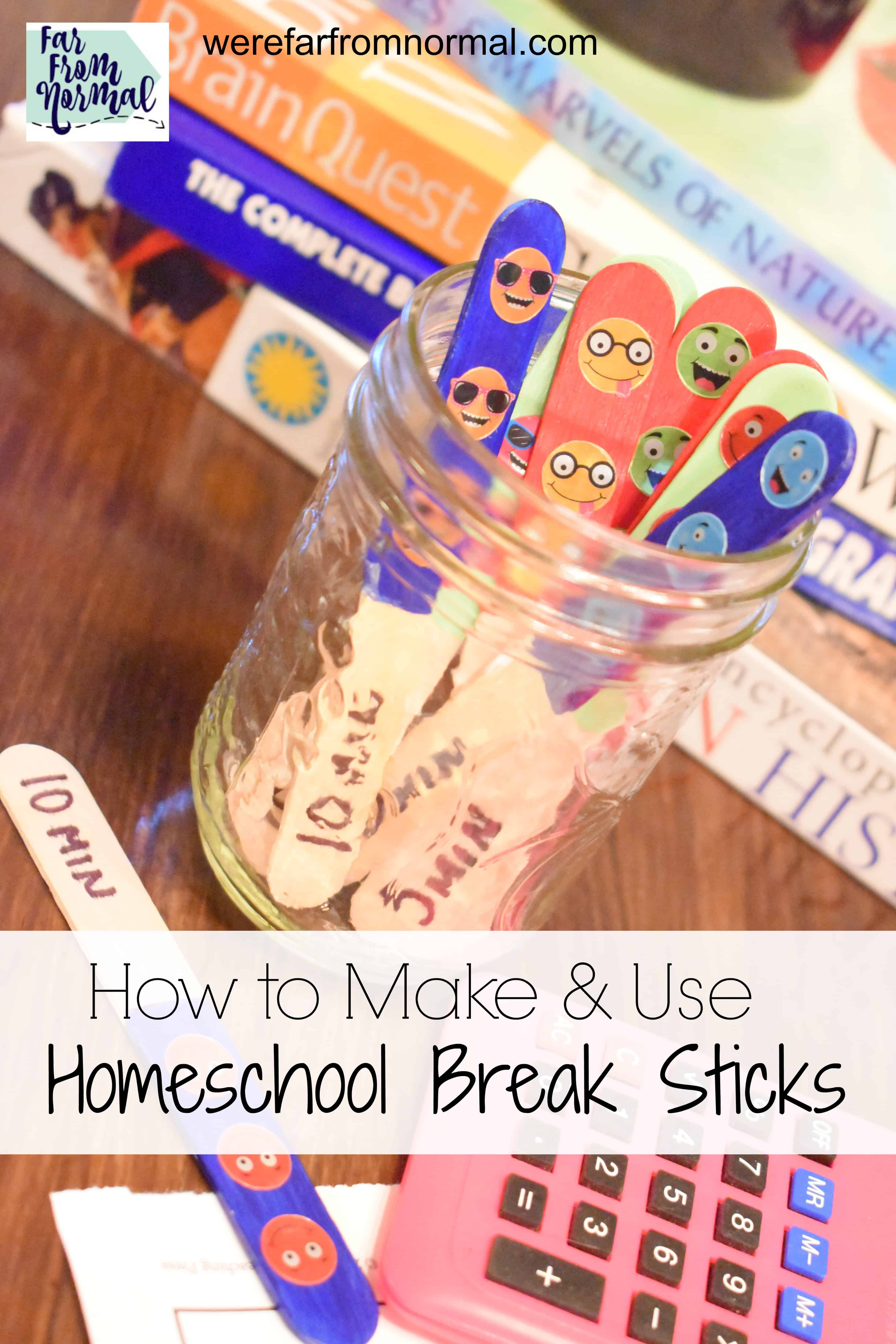 How to Make & Use Homeschool Break Sticks