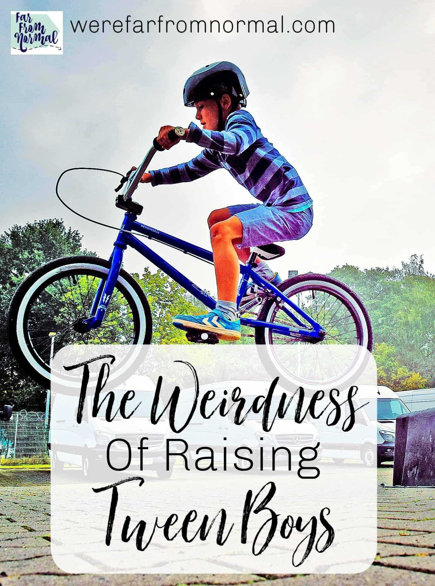 The Weirdness of Raising Tween Boys