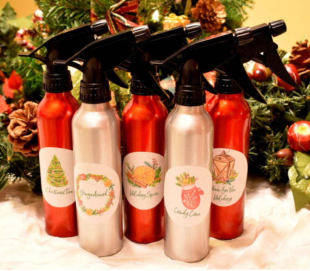 holiday essential oil room sprays