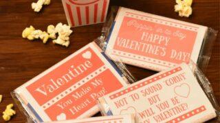 Easy Printable Popcorn Valentines