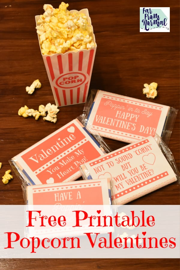 photograph relating to Popcorn Valentine Printable named Very simple Printable Popcorn Valentines Much Against Organic