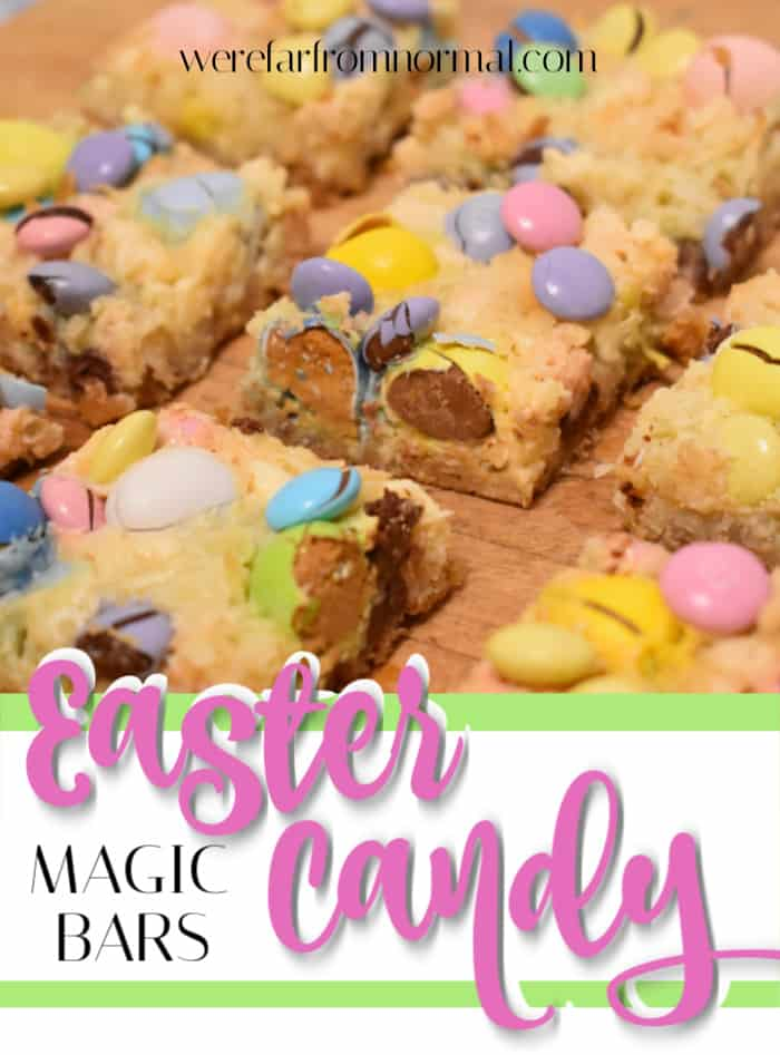 Easter candy magic bars