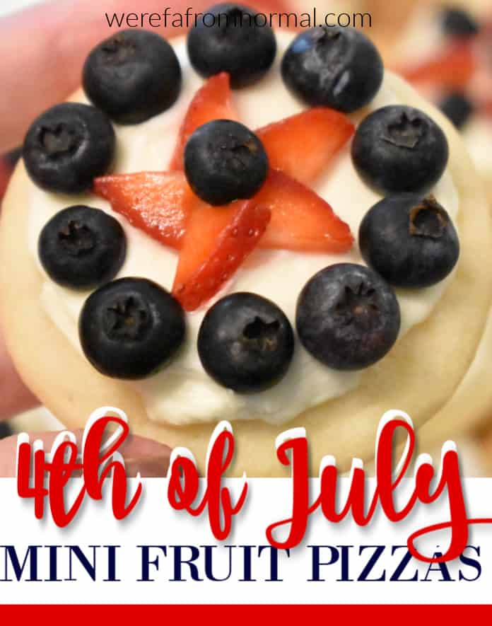 4th of July mini fruit pizzas