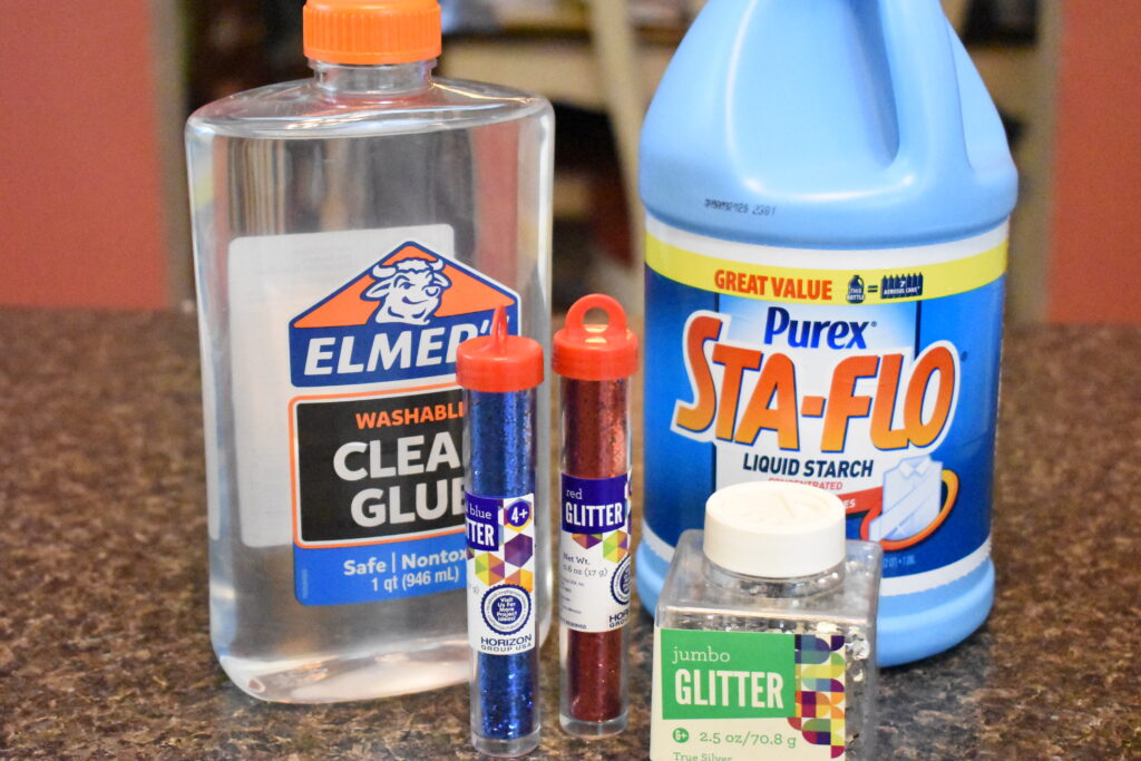 4th of July Slime ingredients