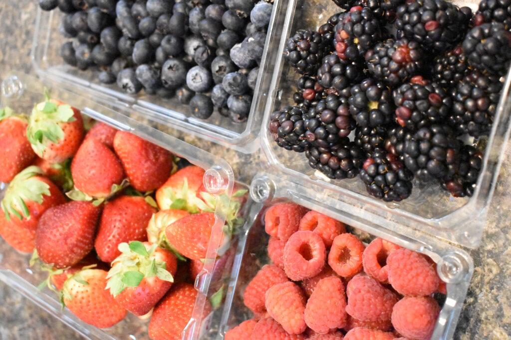 Summer berries, strawberries, blackberries, blueberries, raspberries