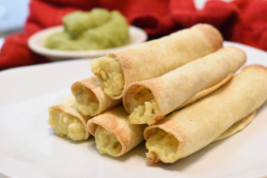 vegetarian air fryer taquitos