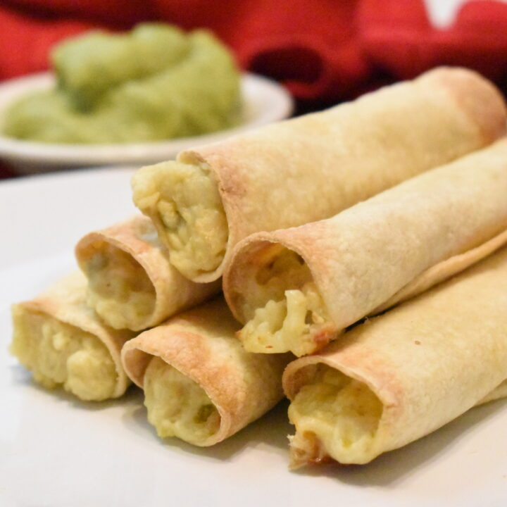 Creamy Vegetarian Air Fryer Taquitos