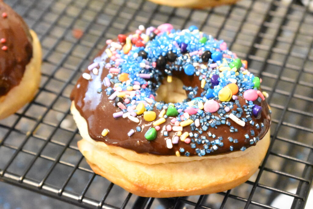 chocolate dipped air fryer donuts