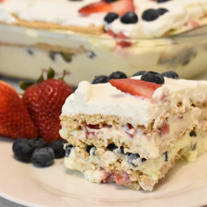4th of July Ice Box Cake