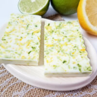 Homemade Lemon Lime Soap