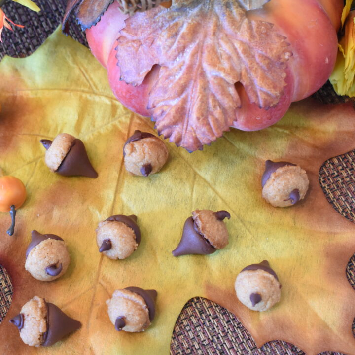 Peanut Butter Acorn Cookies