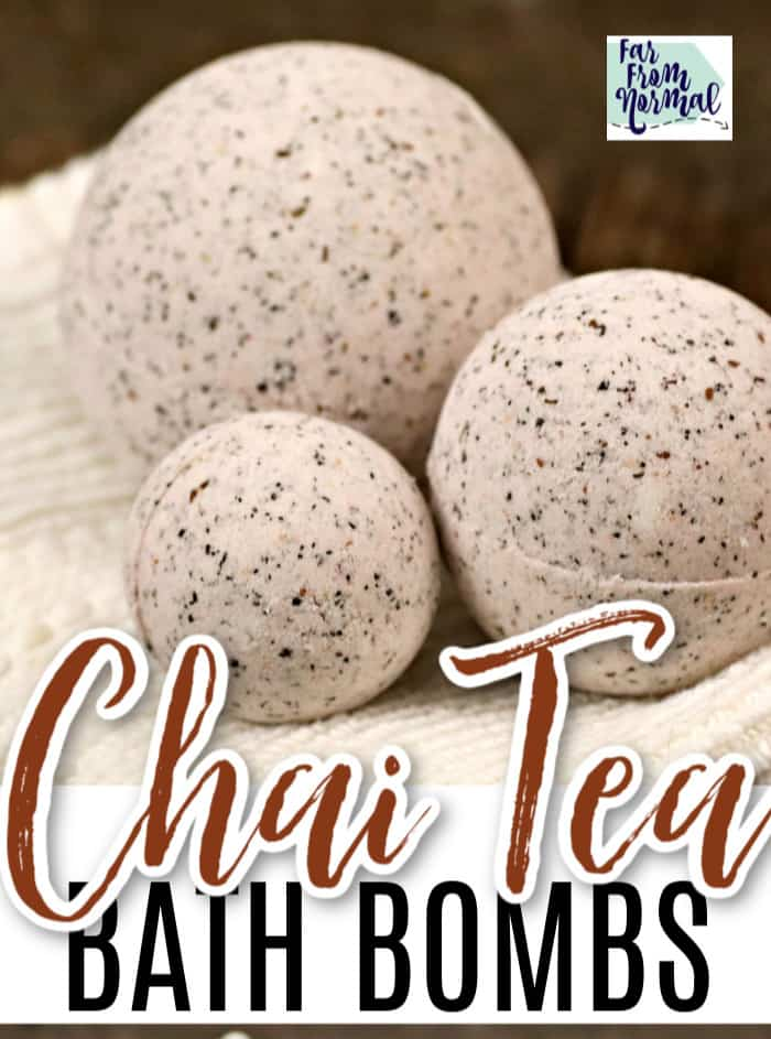 Chai tea homemade bath bombs
