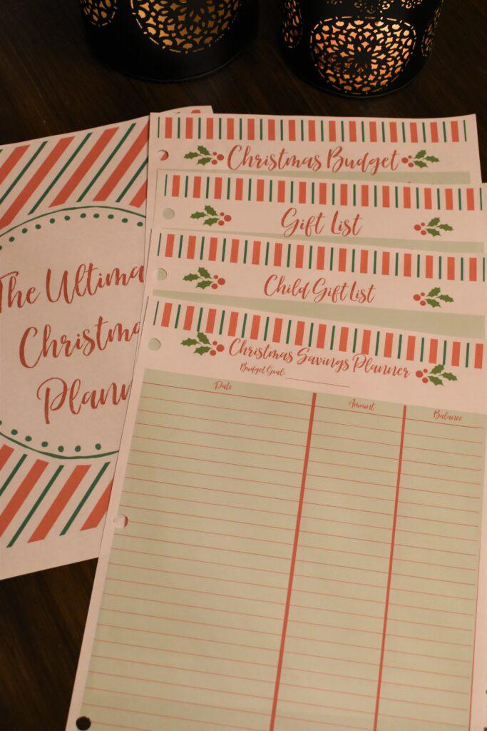 Christmas planner gift