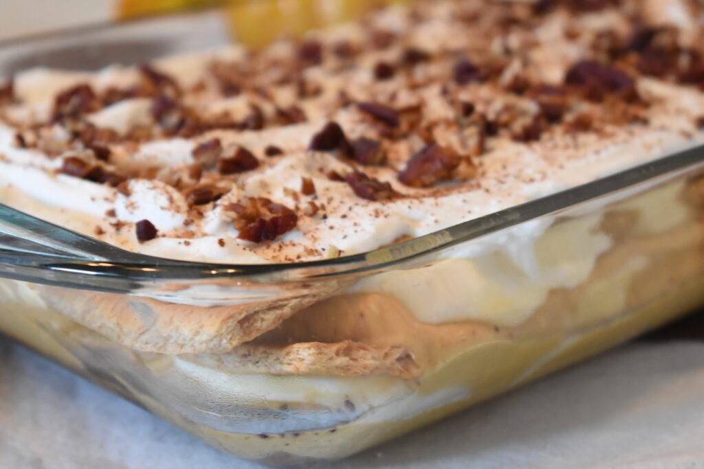 no bake pumpkin dessert pumpkin lasagna dessert