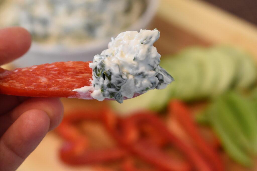 Delicious creamy spinach dip