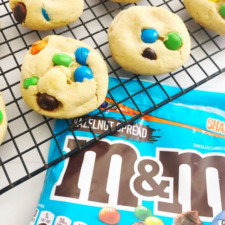 Hazelnut M&M Cookies