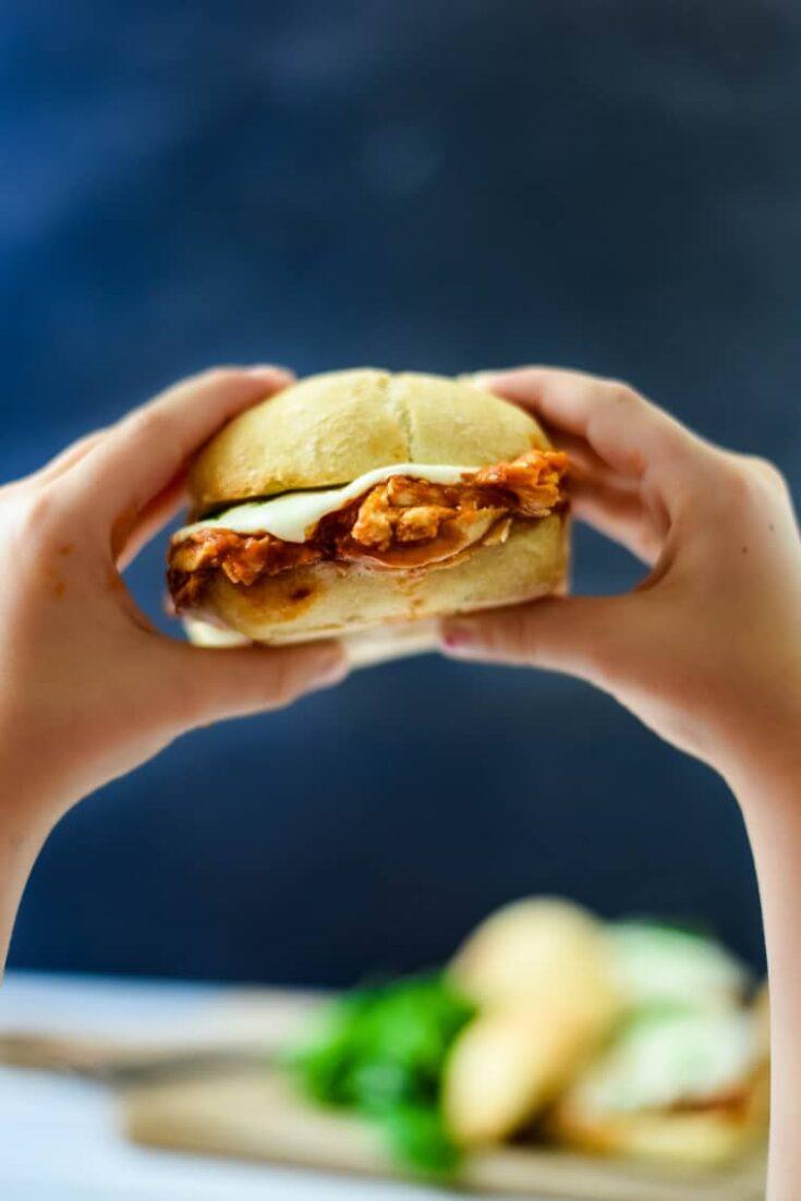 15 Minute Chicken Parmesan Sandwiches