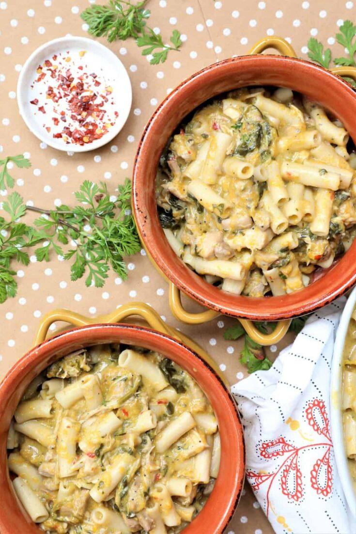 Creamy Spinach Butternut Pasta