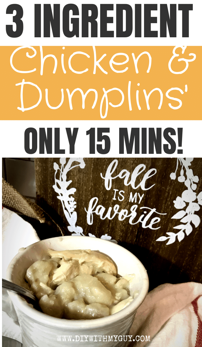 Quick and Easy Chicken & Dumplings