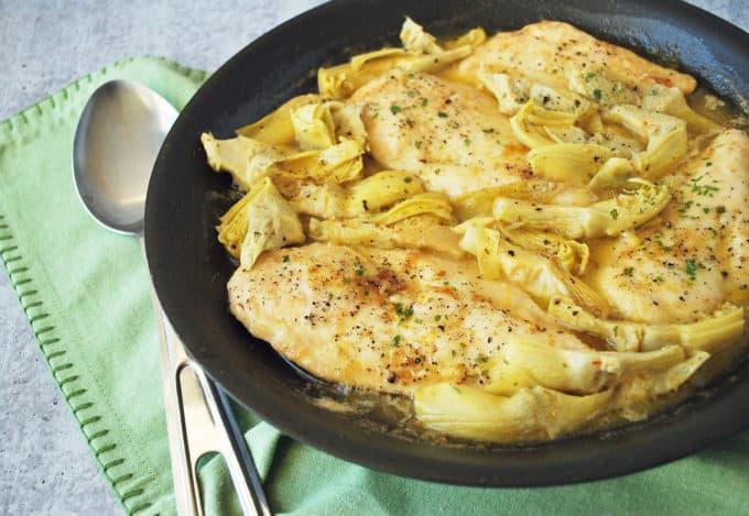 Deliciously Easy Lemon Artichoke Chicken