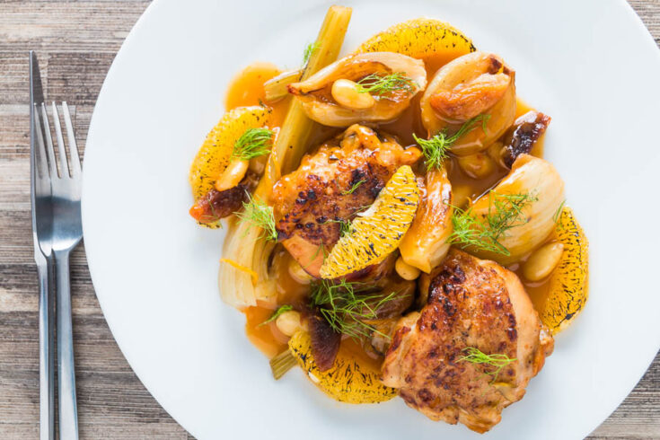 Instant Pot Fruity Fennel Chicken Thighs